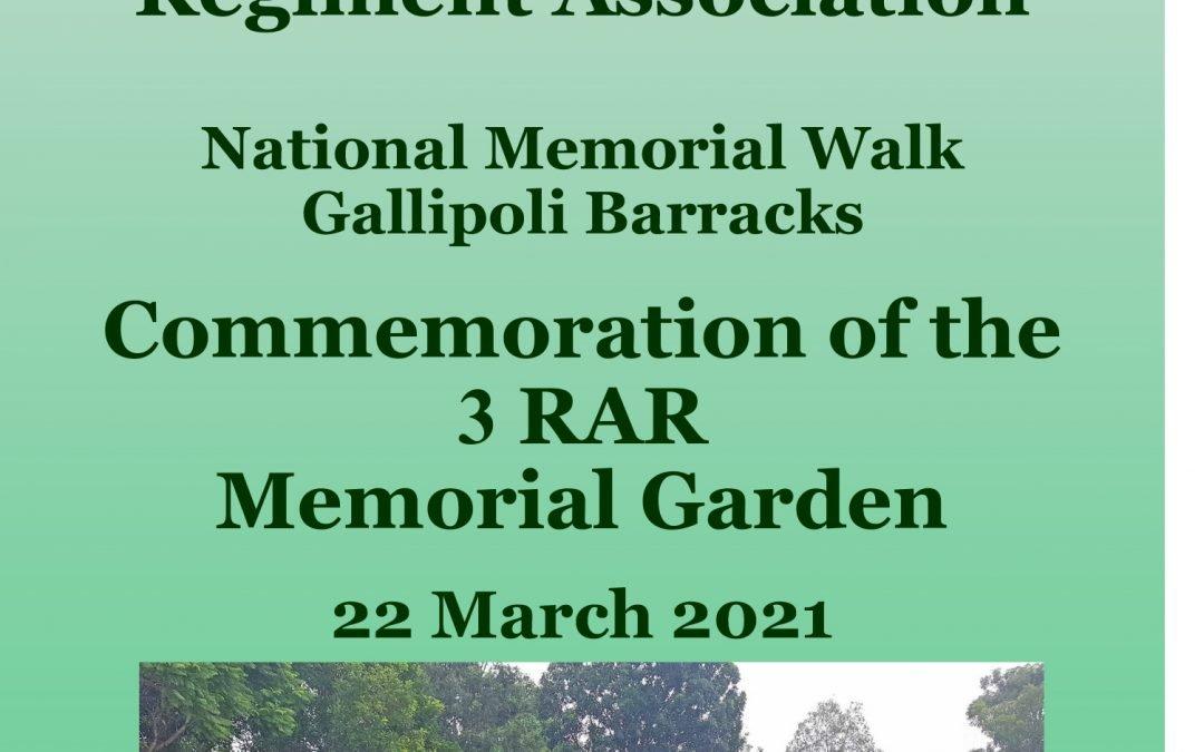 Commemorative 3 RAR Memorial Garden – Opening